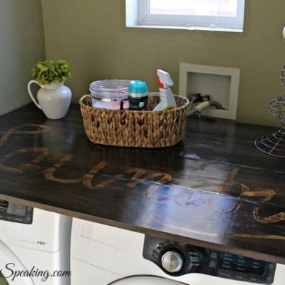 Pine Wood Laundry Countertop