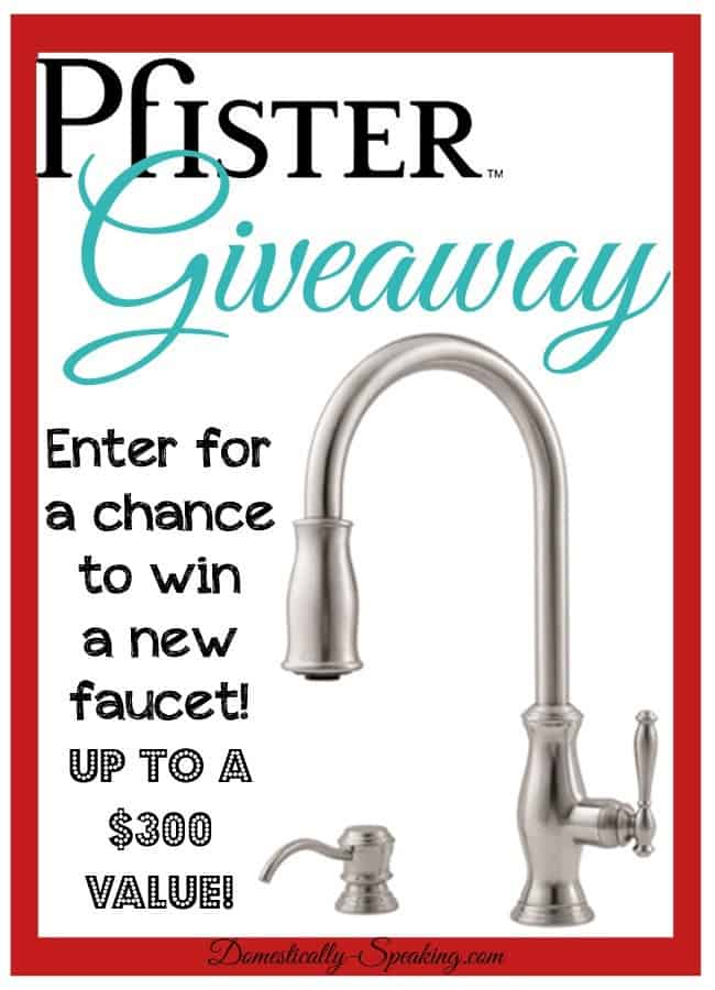 Pfister Giveaway @ Domestically Speaking's Anniversary Week