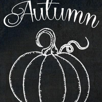 Free Printables ~ Chalkboard Autumn Pumpkin