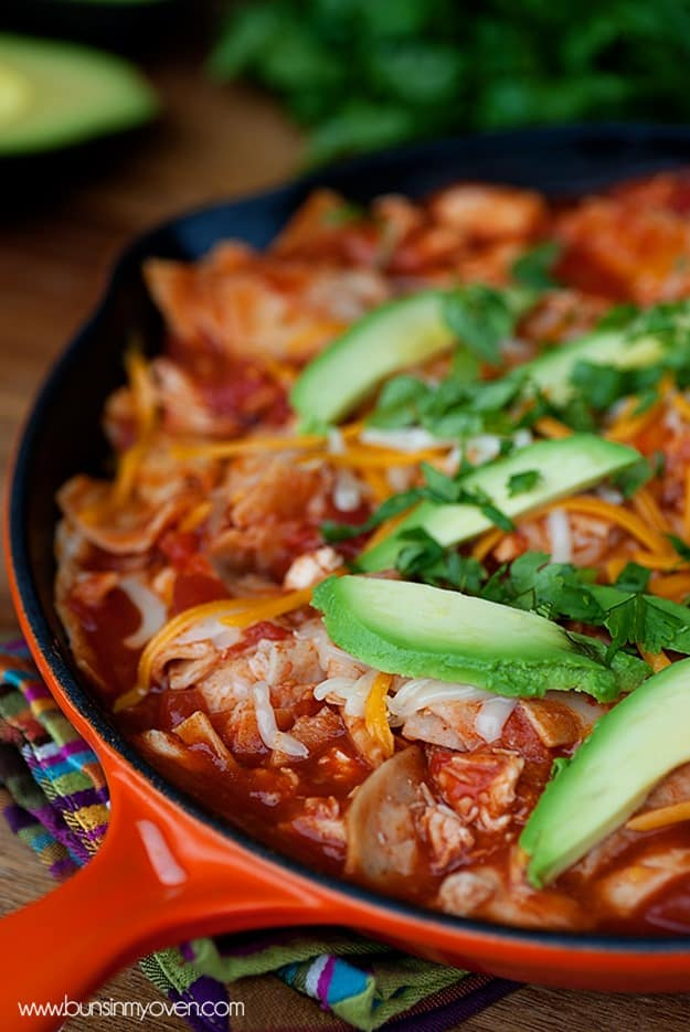 Chicken Enchilada Skillet from Buns in My Oven