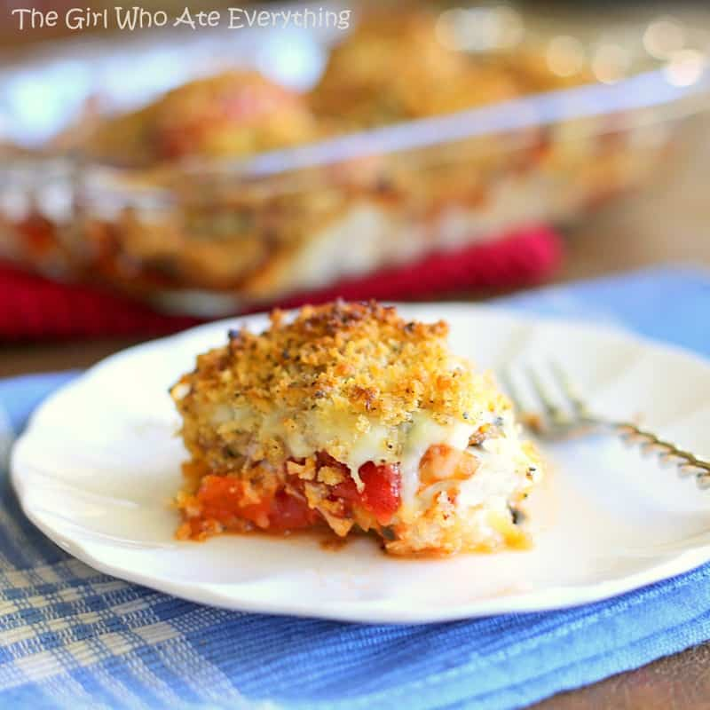 Chicken Parmesan Roll-Ups from The Girl Who Ate Everythign