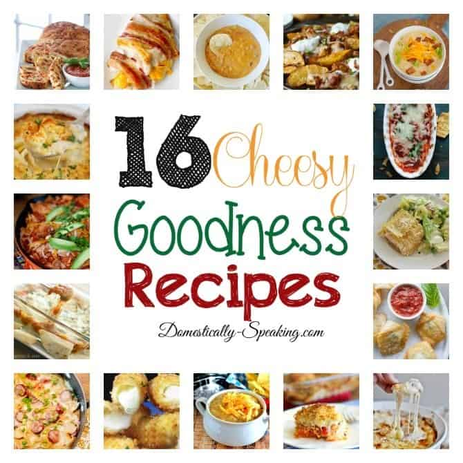 16 Cheesy Goodness Recipes - some of the BEST recipes with CHEESE