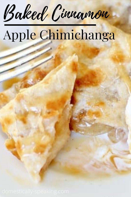 Baked Cinnamon Apple Chimichanga