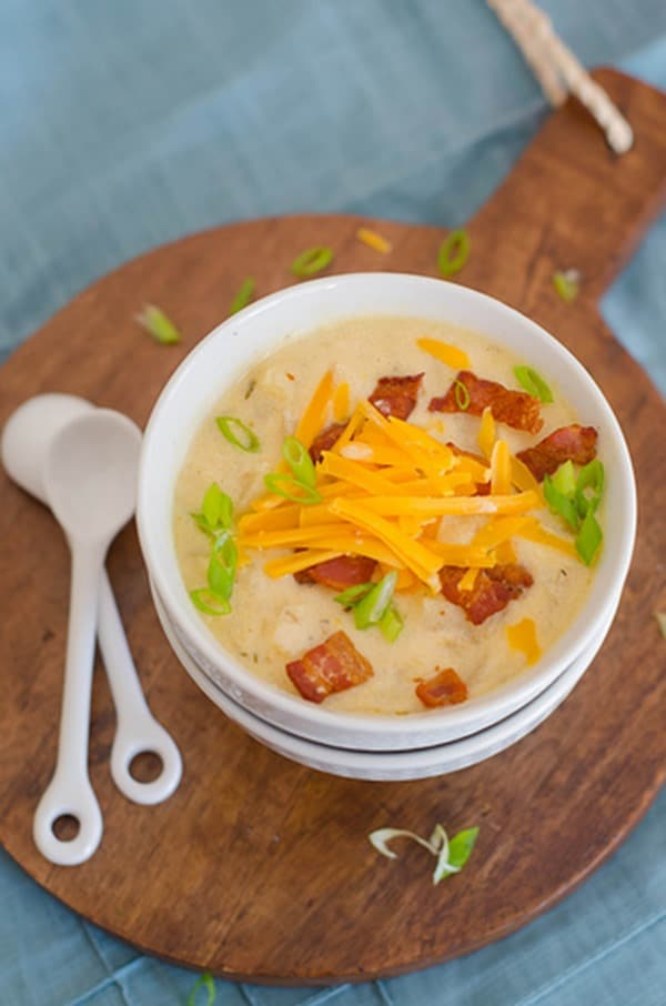 Loaded Baked Potato Soup from Pink Parsley