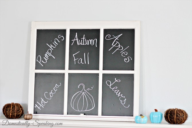 Chalkboard Window with Deco Laminate