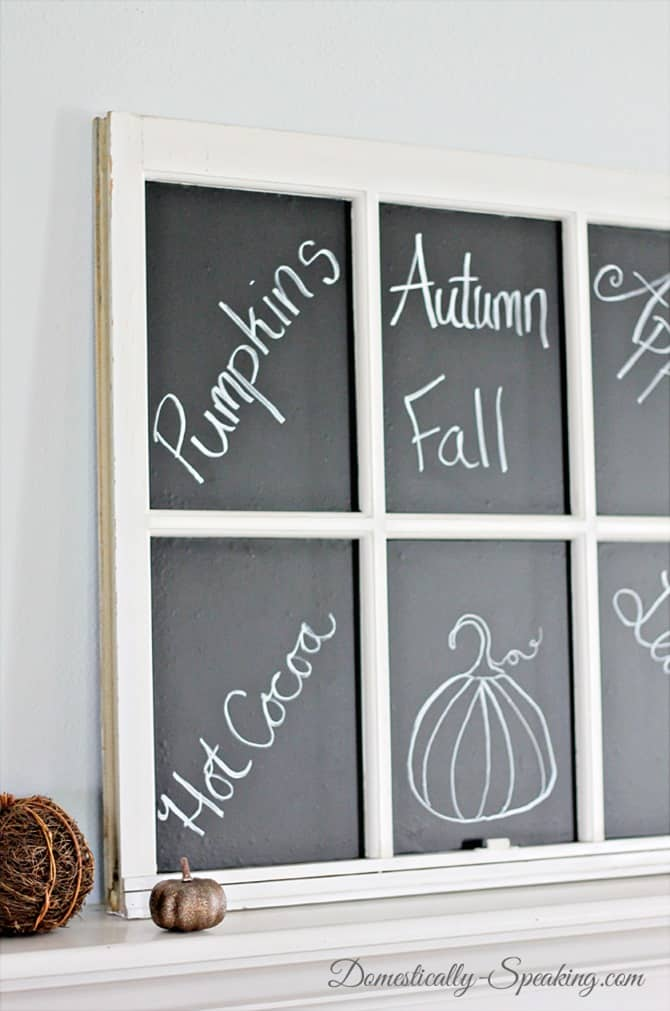 Old Window turned Chalkboard with Laminate