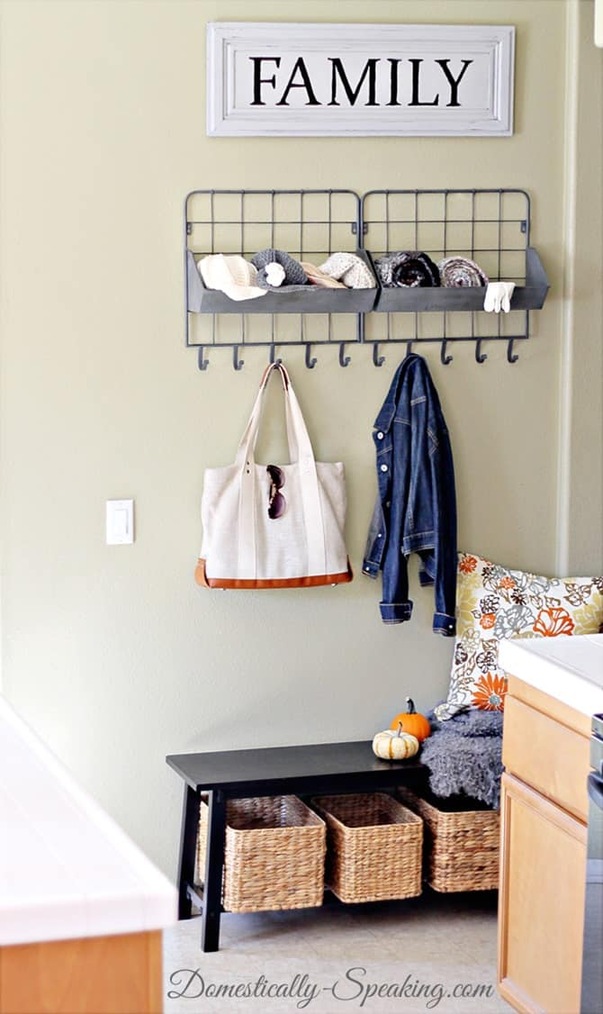 """Mini Mudrooms - made in a 40"""" space"""