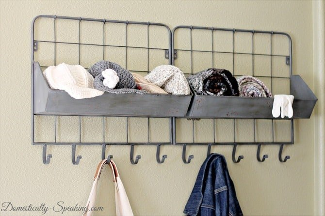 Mini Mudroom - Keep it all organized in a small space