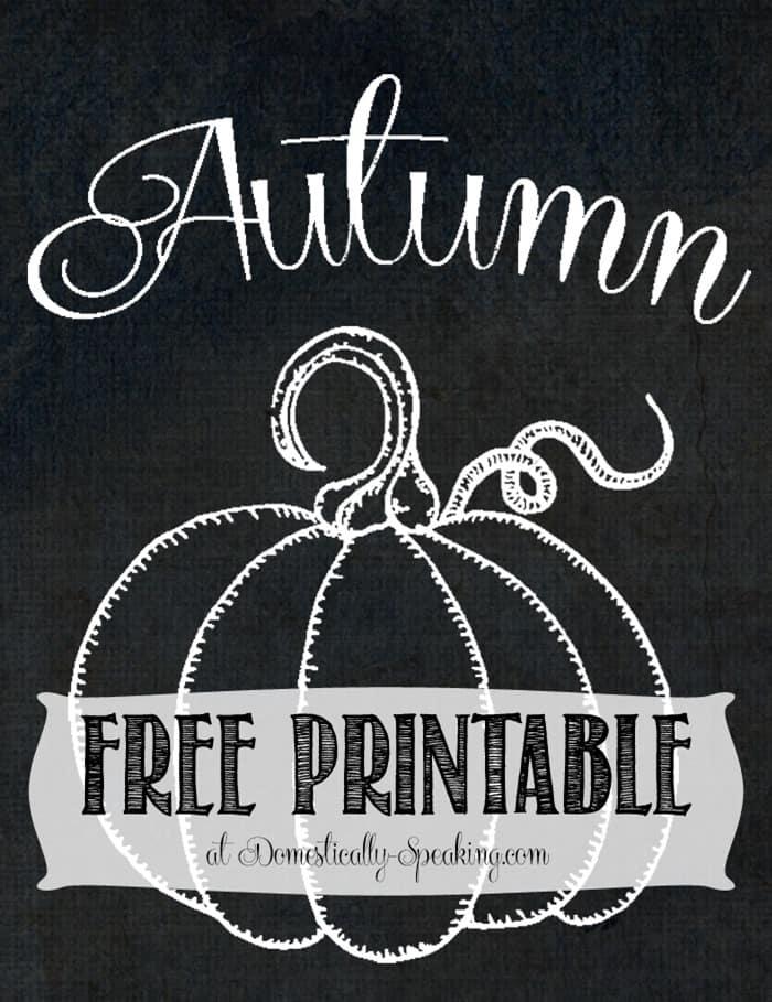 Free Chalkboard Pumpkin Printable