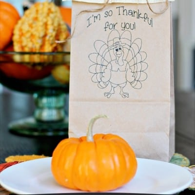 Thanksgiving Goodie Bags Printable ~ A Bountiful Harvest Blog Hop