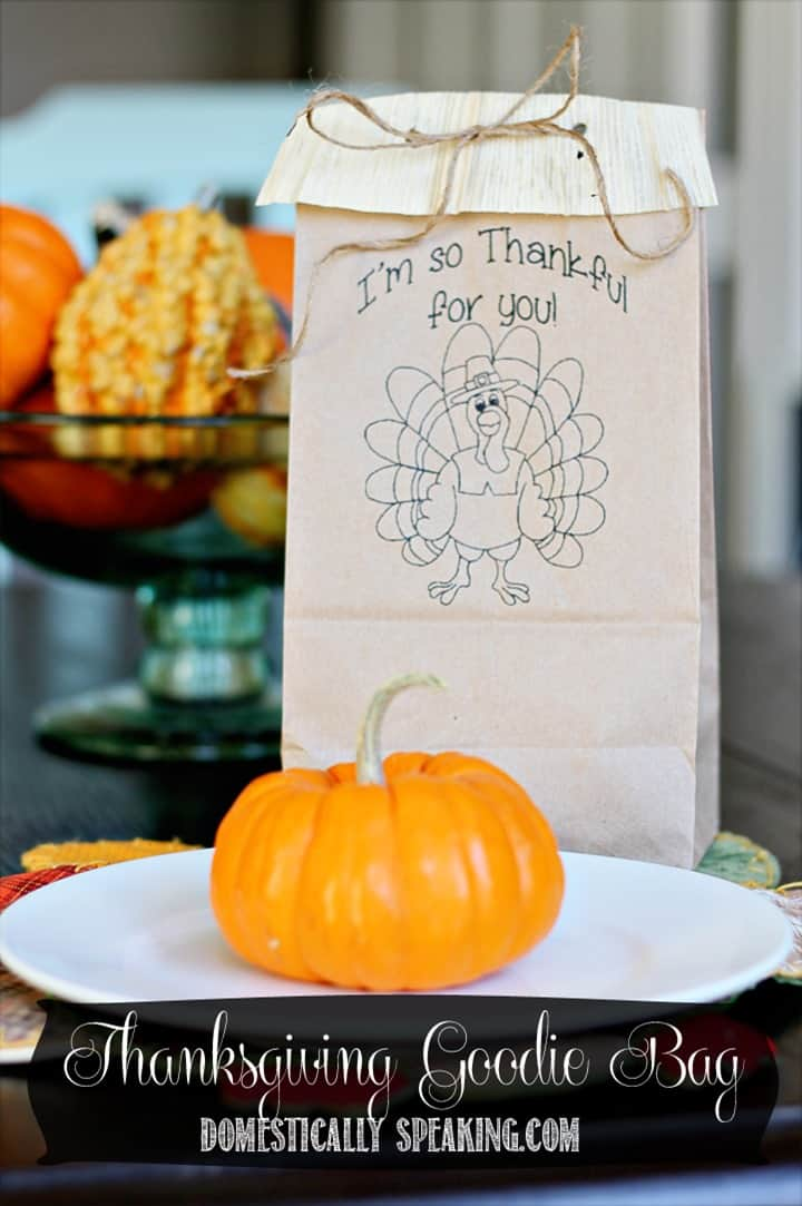Thanksgiving Goodie Bag Printable