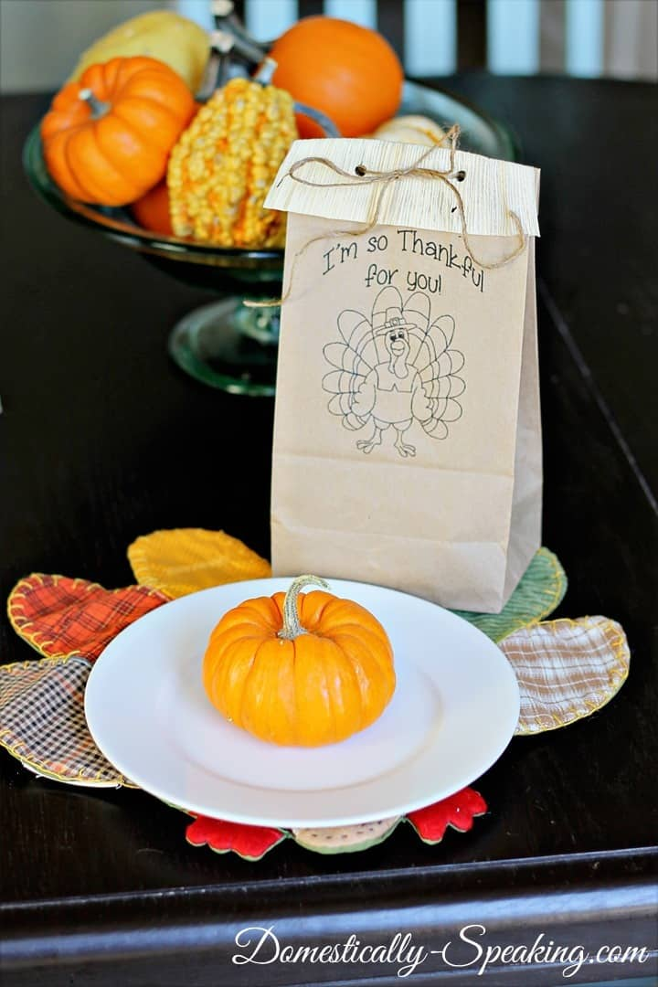 Free Thanksgiving Goodie Bag Printable
