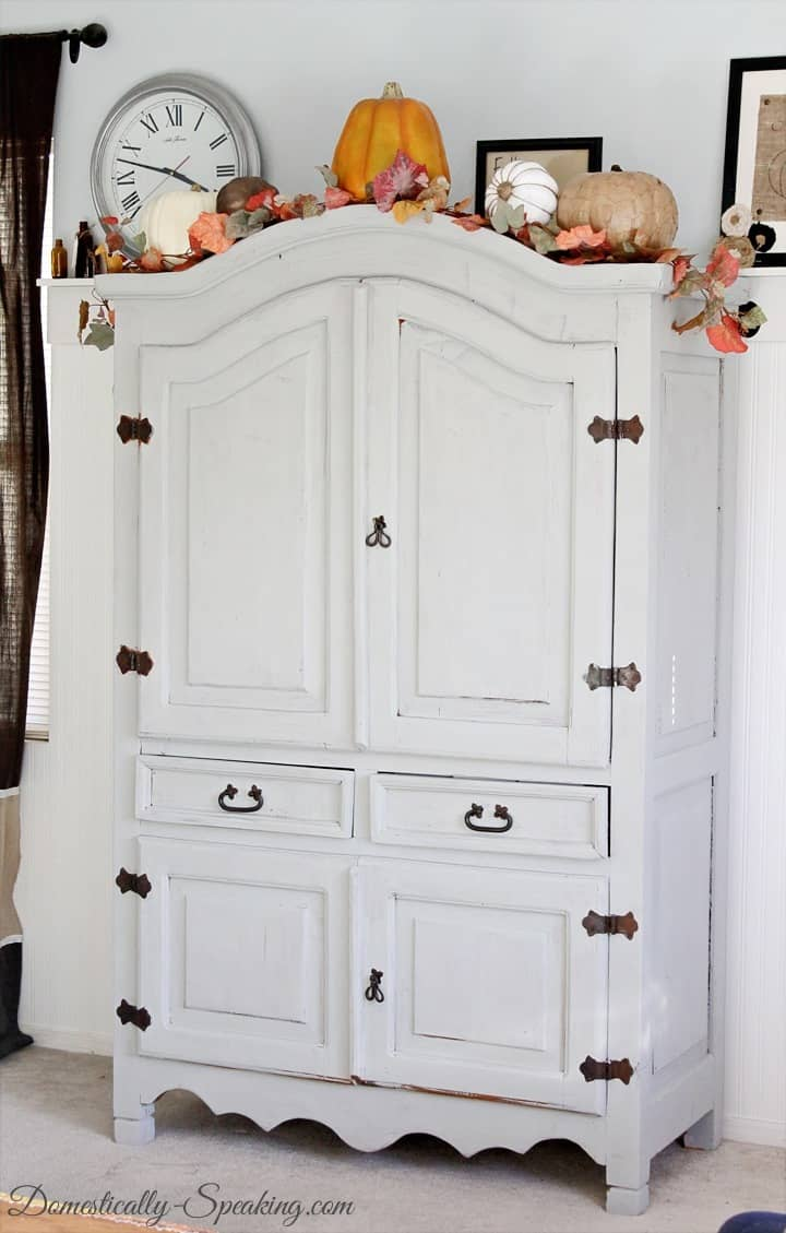 Old Armoire updated with Gray Paint