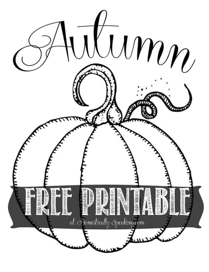 Free Autumn Pumpkin Printable