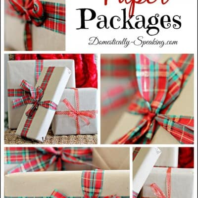 Brown Paper Packages… Simple, Beautiful Christmas Wrapping