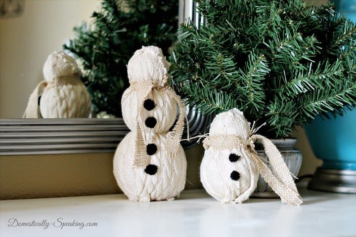 Christmas Home Tour 2013 Sweater Snowmen