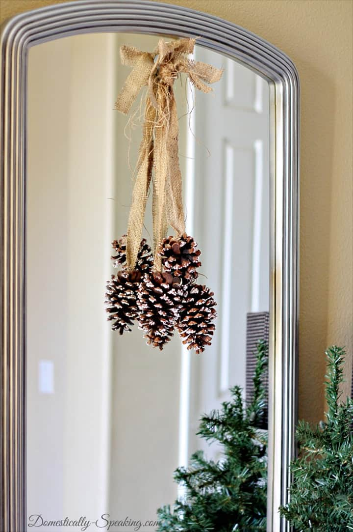 Christmas Home Tour Epsom Salt Pinecones