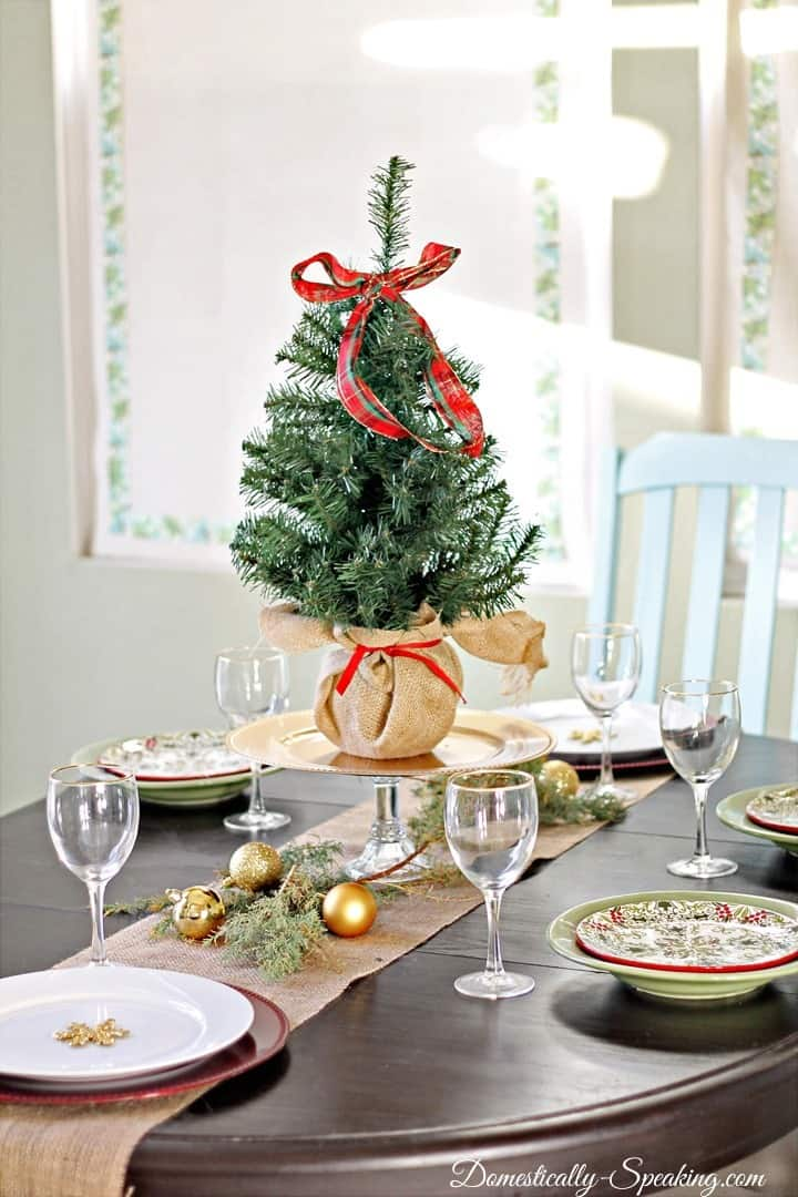 Christmas home tour 2013 domestically speaking for Home goods christmas decorations 2013