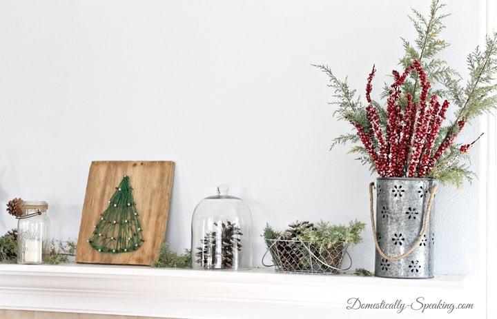 Rustic Glam Christmas Mantel