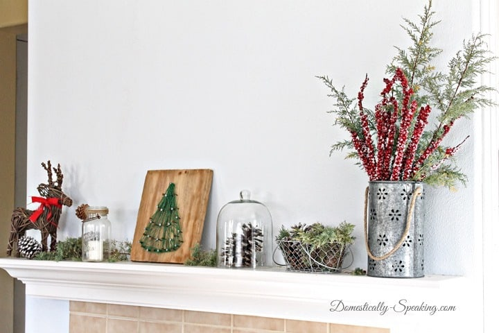 Christmas Home Tour Rustic Glam Mantel