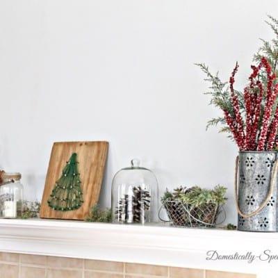Rustic Glam Christmas Mantel 2013