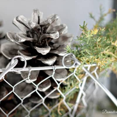 Looking Glass Pinecones… The Making of a Mantel