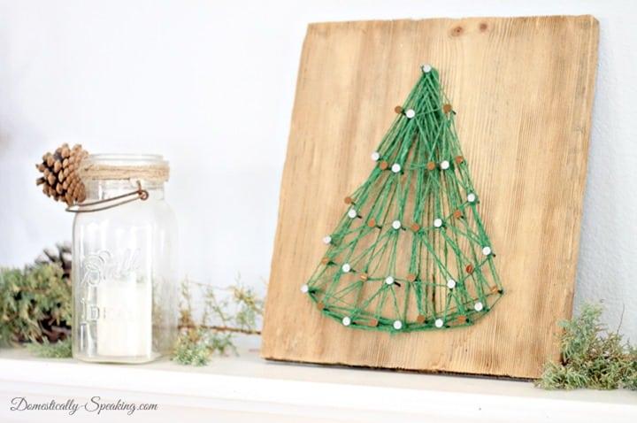 Christmas Home Tour String Art Christmas Tree