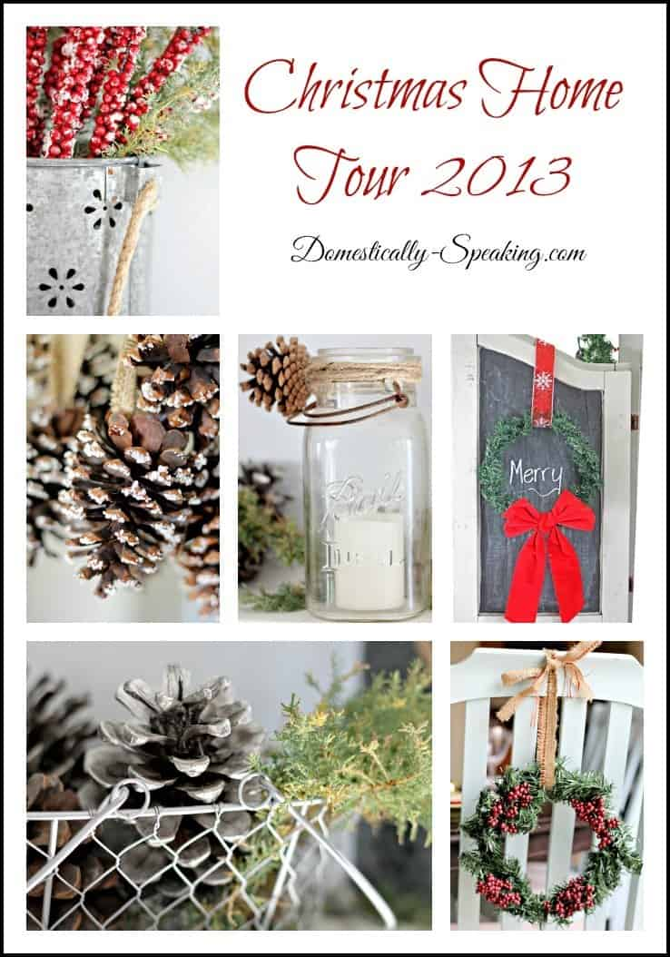 Domestically Speaking: Rustic Christmas Home Tour