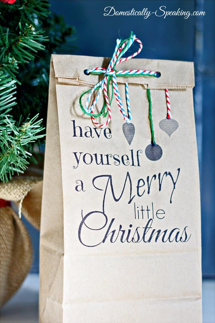Have Yourself a Merry Little Christmas Goodie Bag Printable