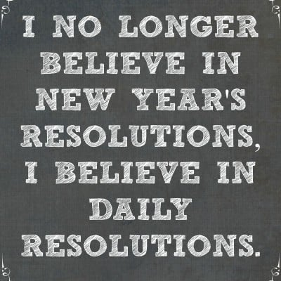 New Year's Resolutions Daily Printable