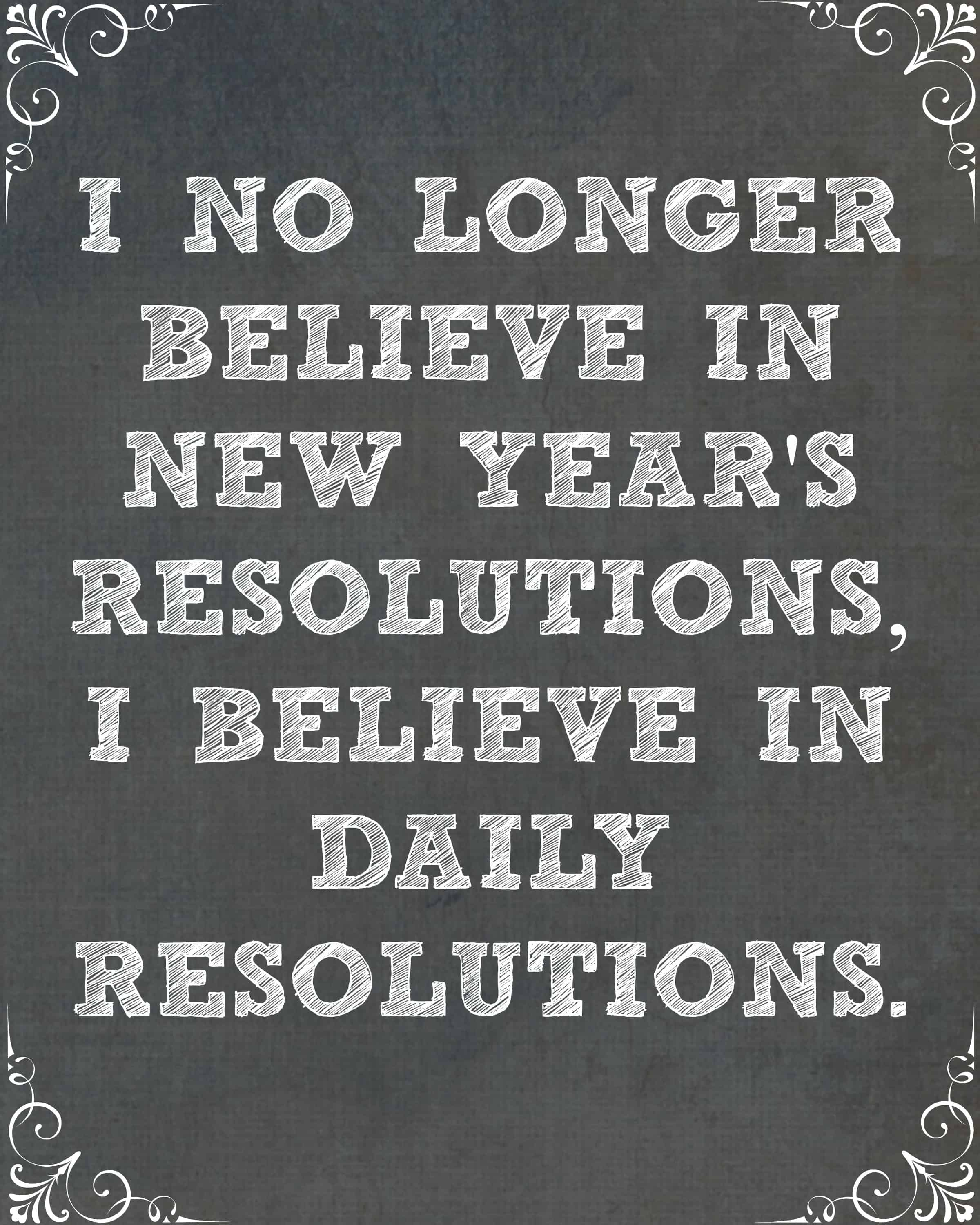 Any New Year Resolutions 2018