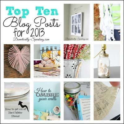 Top Ten Posts from 2013