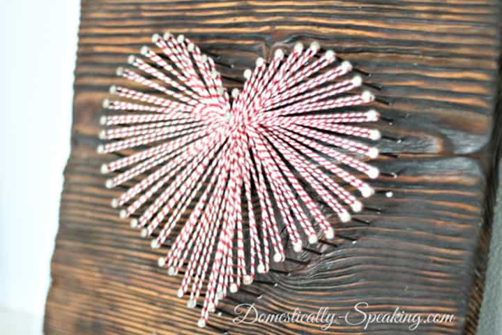 Baker's Twine String Art Heart