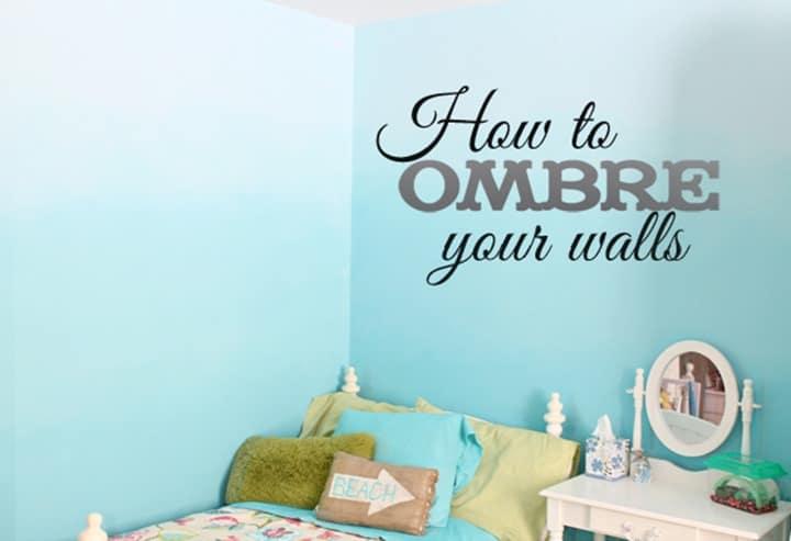 How to Ombre Your Walls