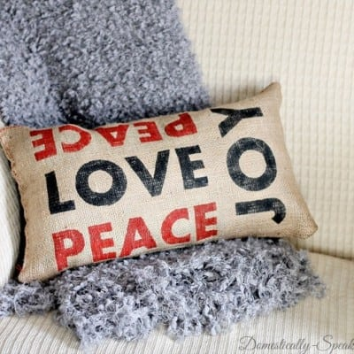 Peace, Joy and Love Pillow Pottery Barn Inspired