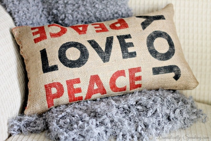 Peace Joy And Love Pillow Pottery Barn Inspired