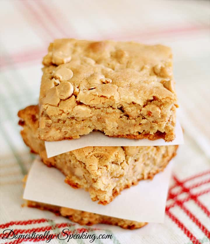 The Ultimate Peanut Butter Cookie Bars Domestically Speaking