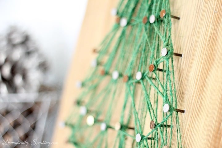 String Art Christmas Tree