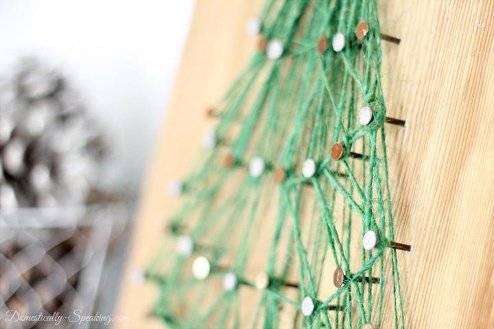Christmas Tree String Art ~ Rustic Glam Christmas Mantel