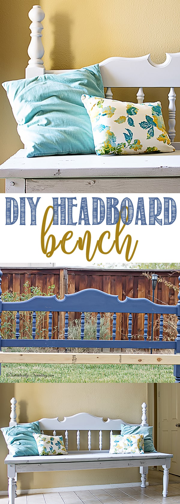 DIY Headboard Bench made from roadside rescues, garage sale leftovers and other freebies