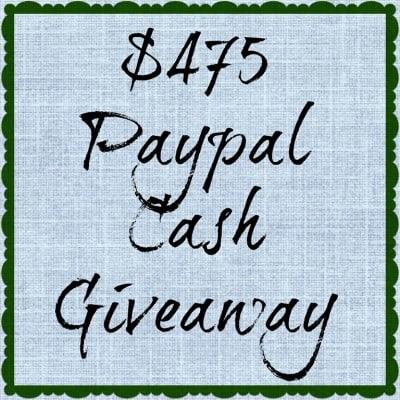 $475 CASH Giveaway