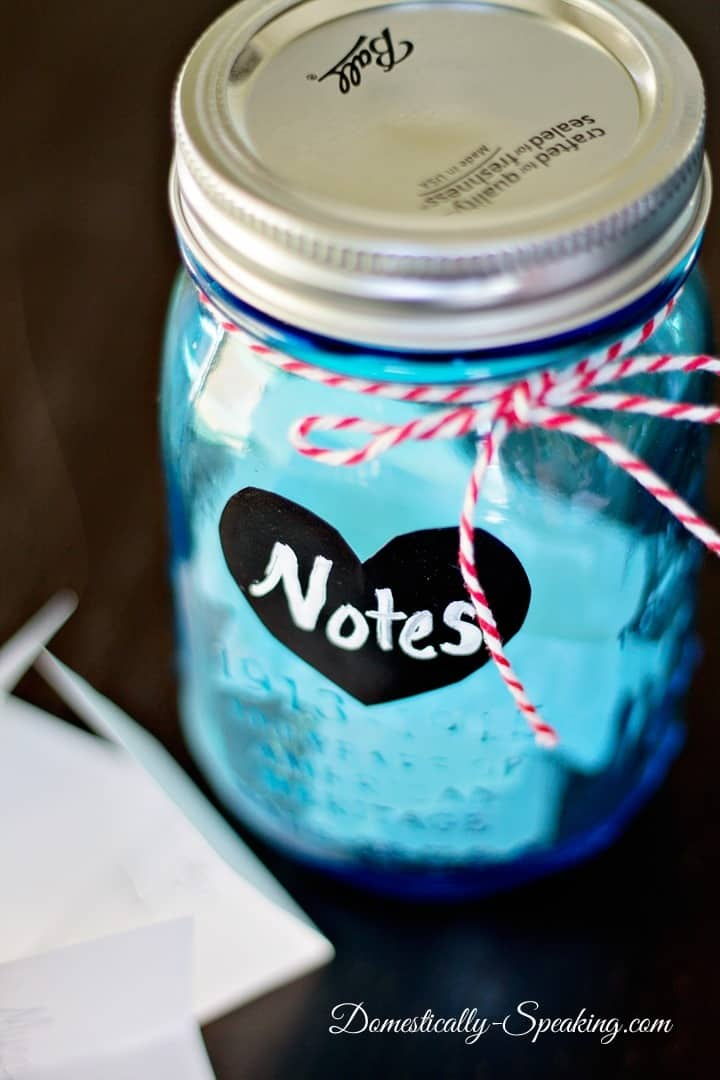Five Minute Valentine S Day Craft Notes Jar At The