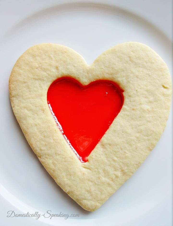 Valentine's Cookie and Candy in One Sugar Cookie Outside and Candy in the middle