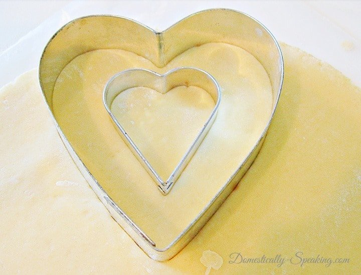 Sugar Cookies with Heart Cut Outs