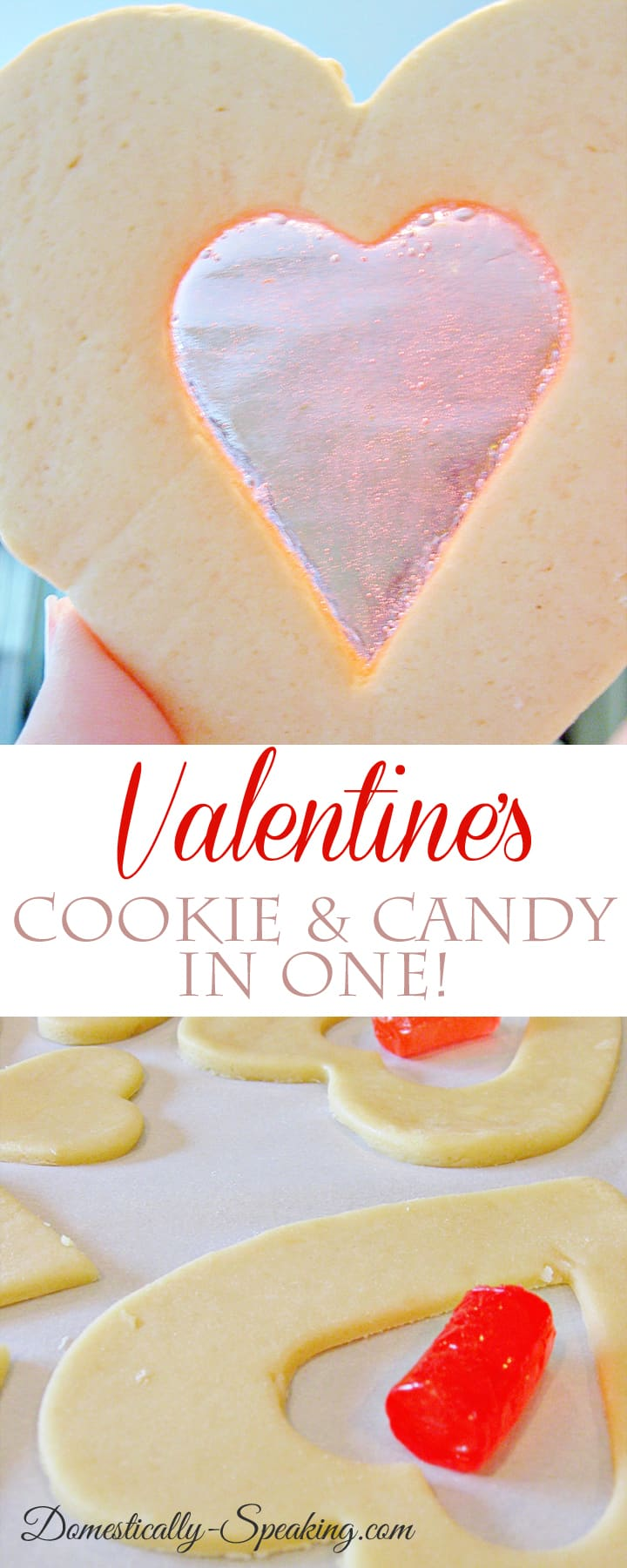 Valentine's Cookie - it's a cookie and candy in one! So simple and super cute treat for the kids on Valentine's Day!