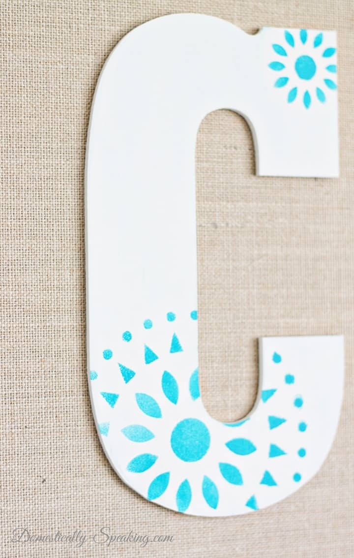 Stenciled Monogram Burlap Diy