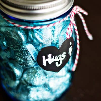 Hugs and Kisses Mason Jar Valentines Gifts