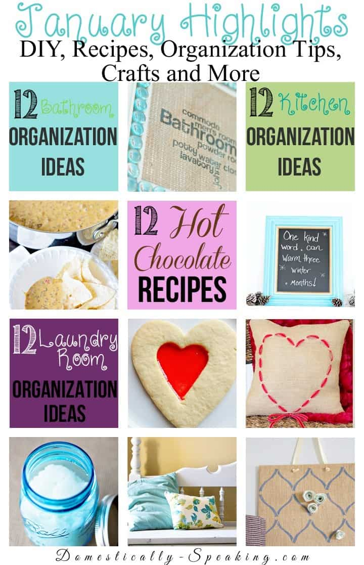 January's DIY, Recipes, Organization Tip, Crafts and More