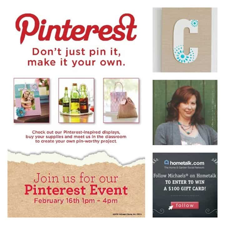 Pinterest Party at Michaels!