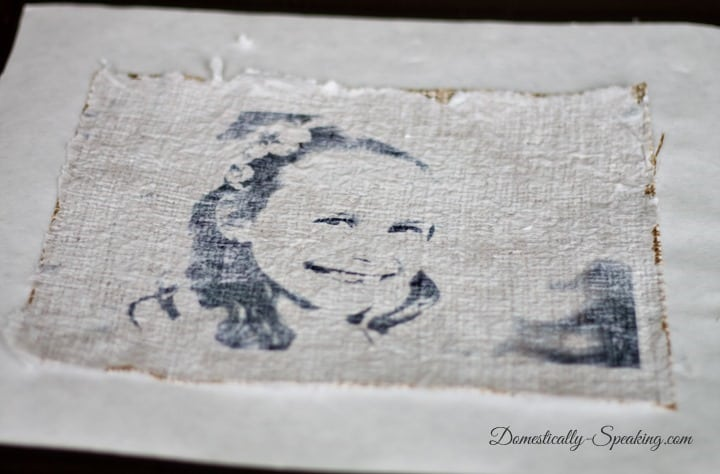 Burlap Tissue Paper Photo Art at Domestically-Speaking.com